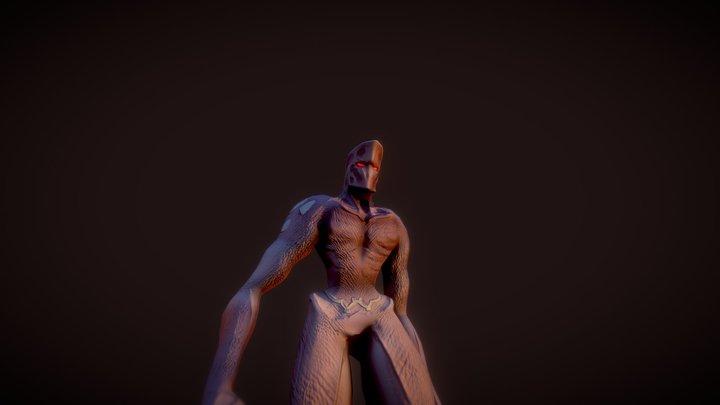 Larva Man-walking 3D Model