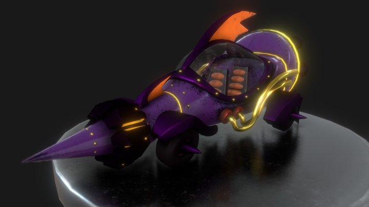 Wacky Races Mean Machine 3D Model