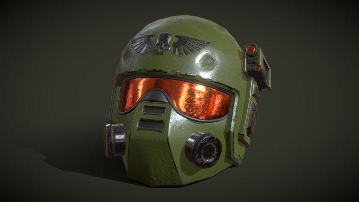 Warhammer 40k - Kasrkin Helmet 3D Model