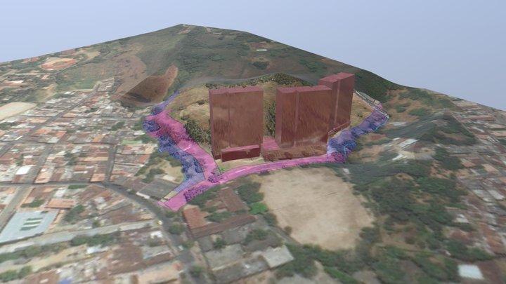 Terreno OBJANIM 3D Model