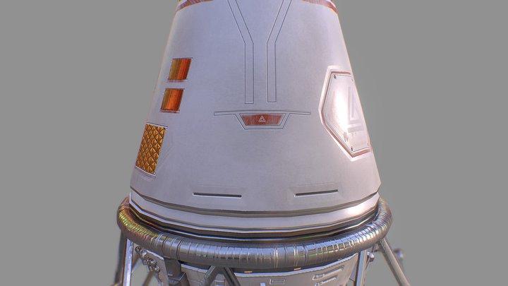 Space Lander 3D Model