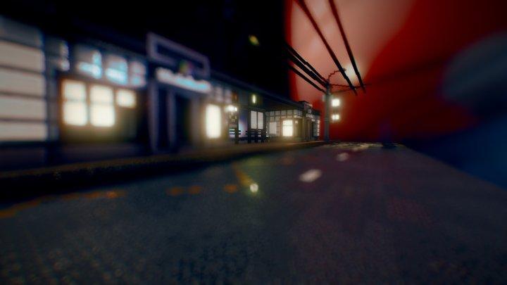 SUSU Bus stop 3D Model