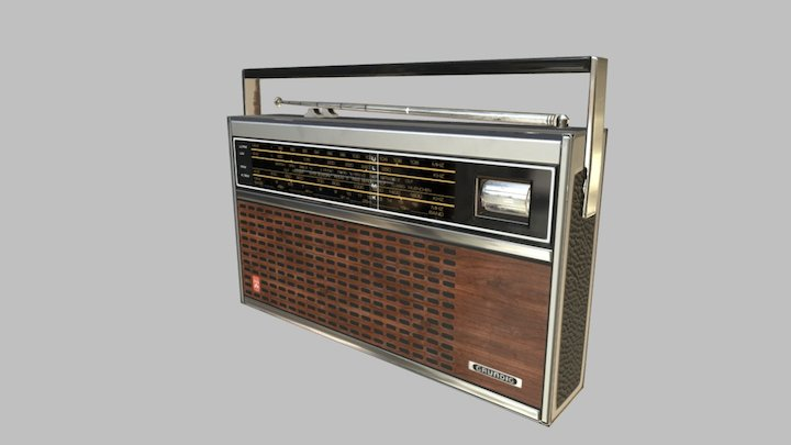 Grundig City-Boy 1100 [Clean] 3D Model