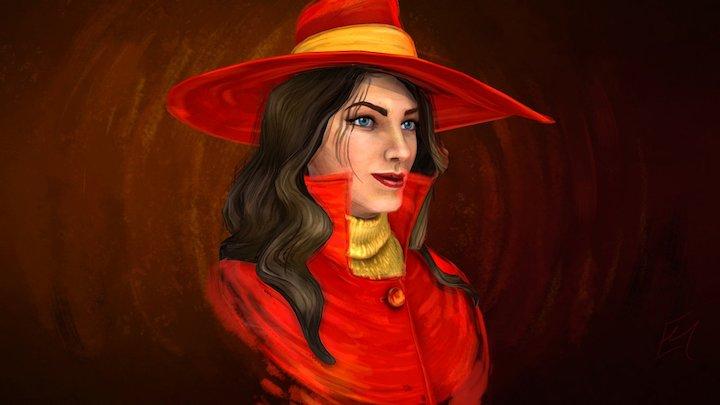 Carmen Sandiego 3D Model
