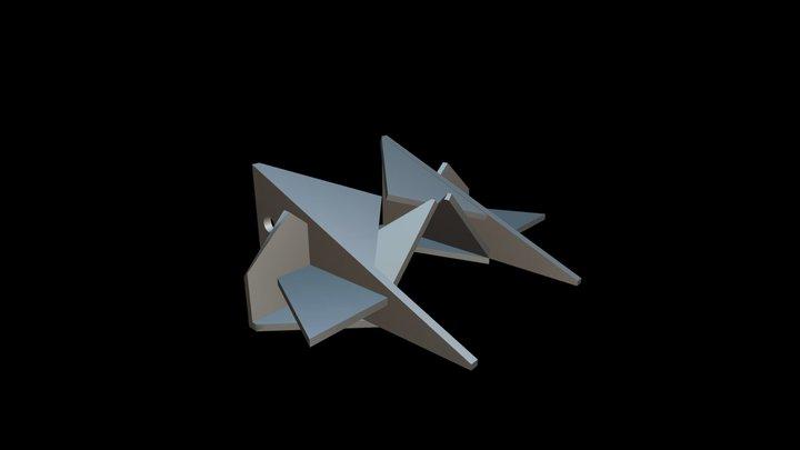 Polygon Earrings 3D Model