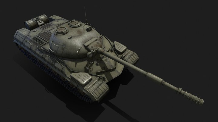 Tank T-10M 3D Model