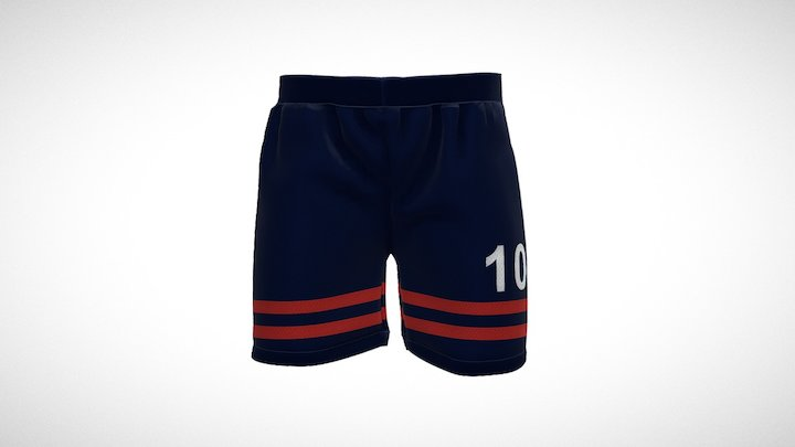 Soccer Jersey Shorts 3D Model