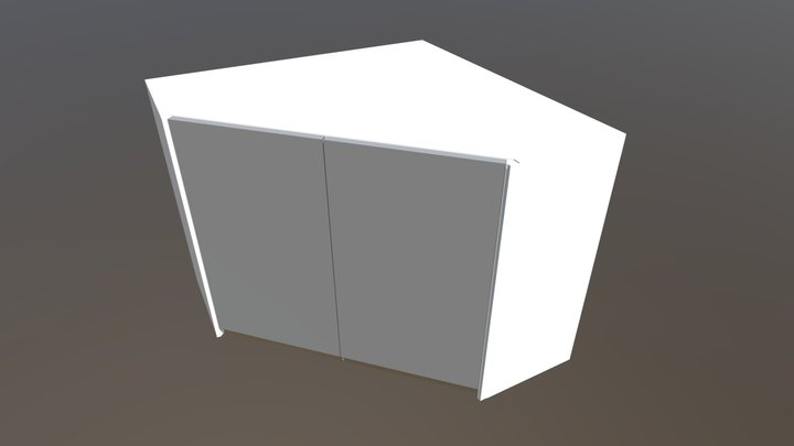 900-FINGERPULL-HORIZONTAL-CORNER-WALL-UNIT 3D Model