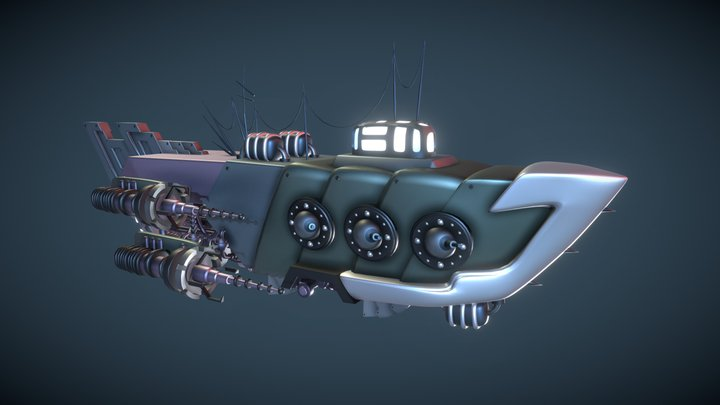 Sky Pirates Skyship 3D Model