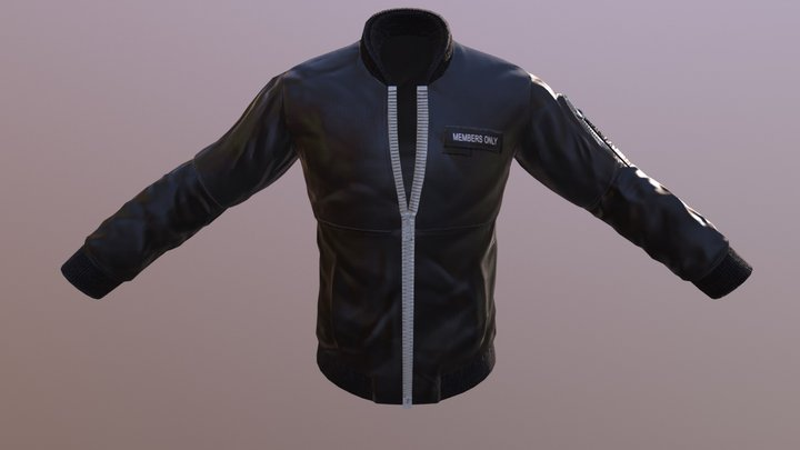 Members Only Polyester Jacket 3D Model