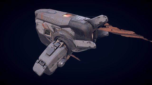 A Road Trip In 2016 - Whale class transport 3D Model