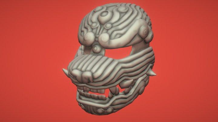 Foo Dog Mask 3D Model