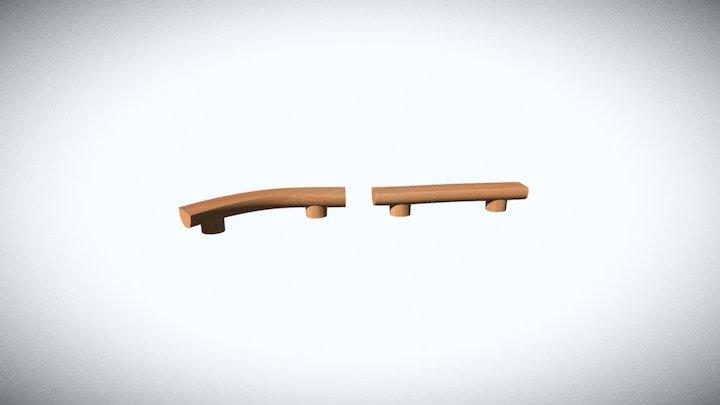 Playscape Balance Beam 3D Model