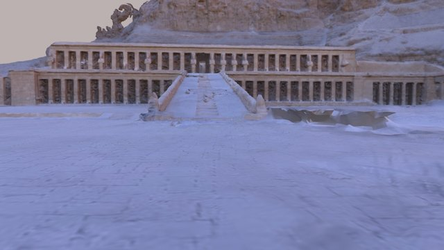 Temple of Hatshepsut, Whole Scene 3D Model