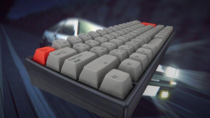 HHKB Professional JP w/ Hi-Pro Keycaps 3D Model