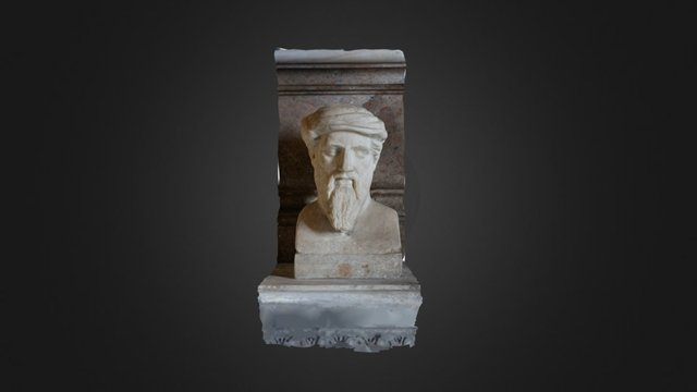 Herm depicting Pythagoras 3D Model
