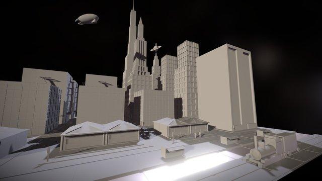TechTalents Town --- TT Town 3D Model