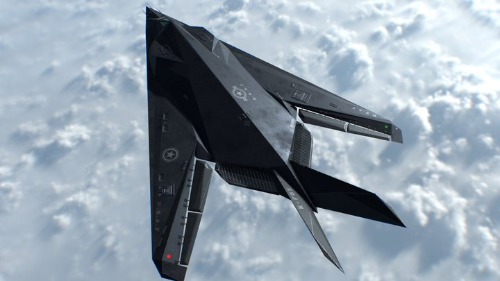 F-117 - Game Ready 3D Model
