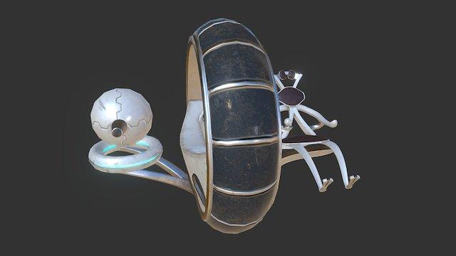 Sci-fi Monowheel 3D Model