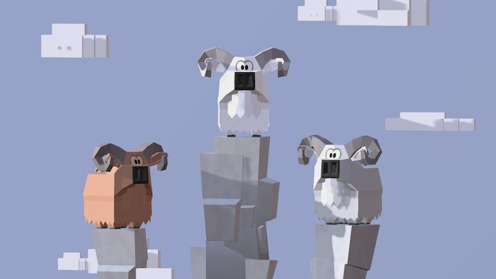 Mountain Sheep. 3D Model