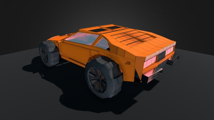 Low Poly Offroad Vehicle - Falkon 3D Model