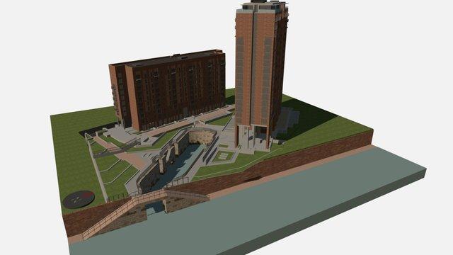 Wilburn Wharf, Manchester 3D Model
