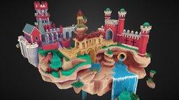 Sintra Floating Castle 3D Model