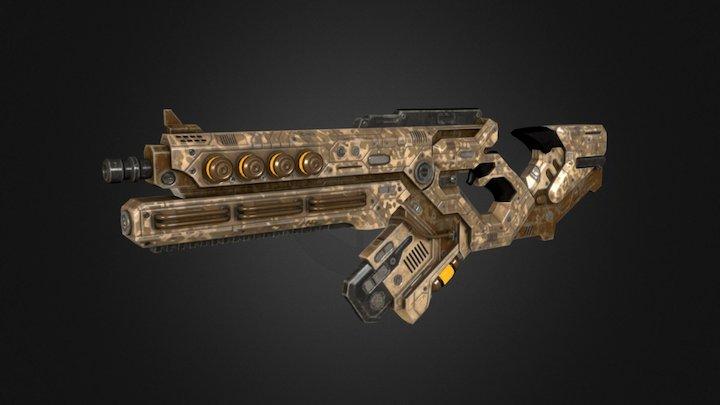 sci-fi rifle v2 3D Model
