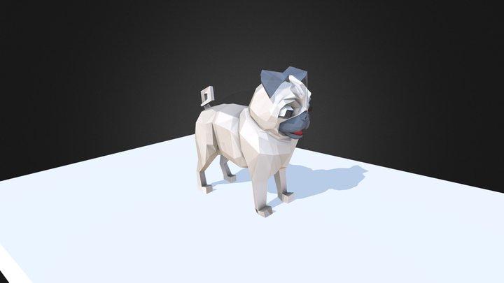 Pug low-poly model 3D Model