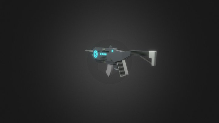 Assault rifle MK2 3D Model
