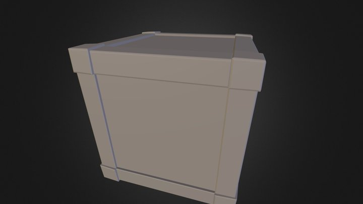 BandedCrate 3D Model