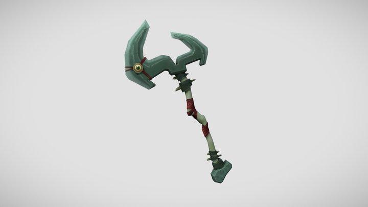 Stylized Greataxe 3D Model