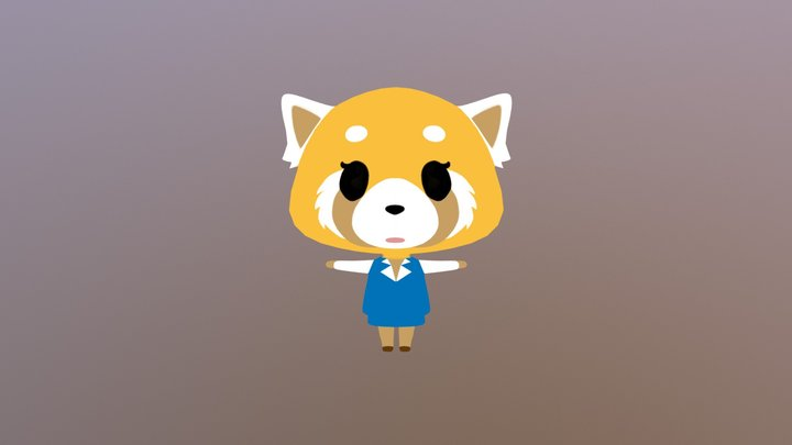 Retsuko 3D Model