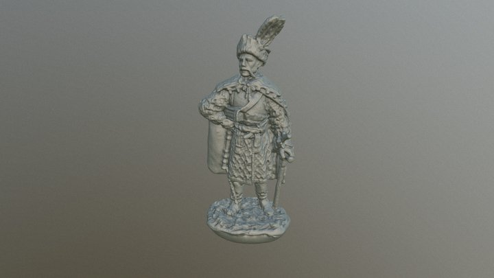 Cossack colonel, Ukraine, 17 century 3D Model
