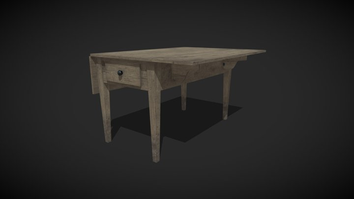 Kitchen Table (old) 3D Model