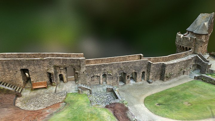 Rempart Scenery 1 - Upper part - 3D Model