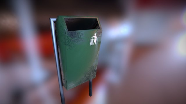 Trashbin A 3D Model