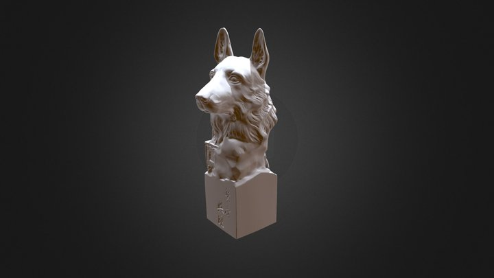 Statues of dog head-3d scanning by PRINCE775 3D Model