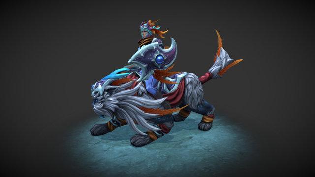 Silvershade Rider -  Luna set 3D Model