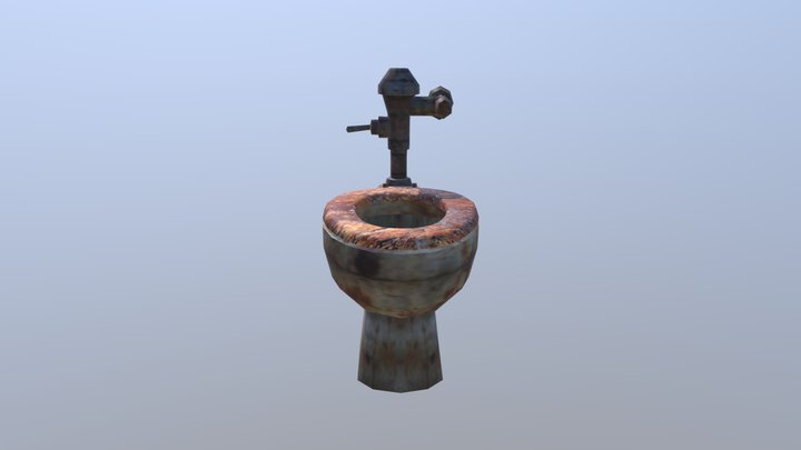 Silent Hill toilet with seat dirty 3D Model