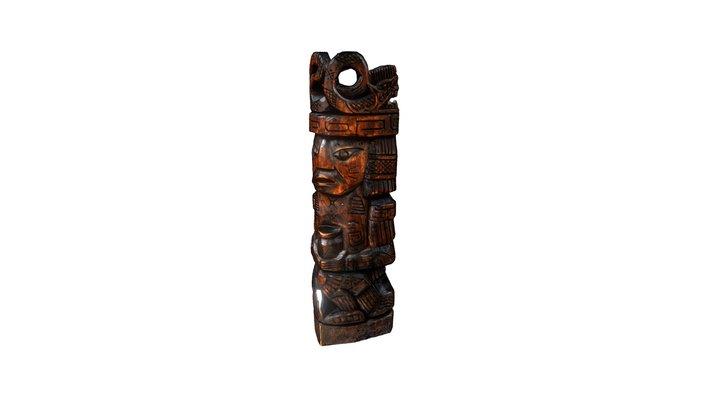 Modelo en 3D, de una talla artesanal en madera. 3D Model