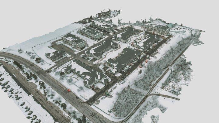 2020-01-31 Breeze Terrace - In Snow 3D Model