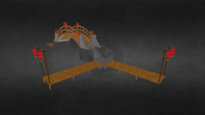 Japanese Bridge/Dock 3D Model