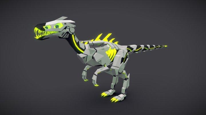 Masiakasaurus (Robot Raptor) Low Poly Concept 3D Model