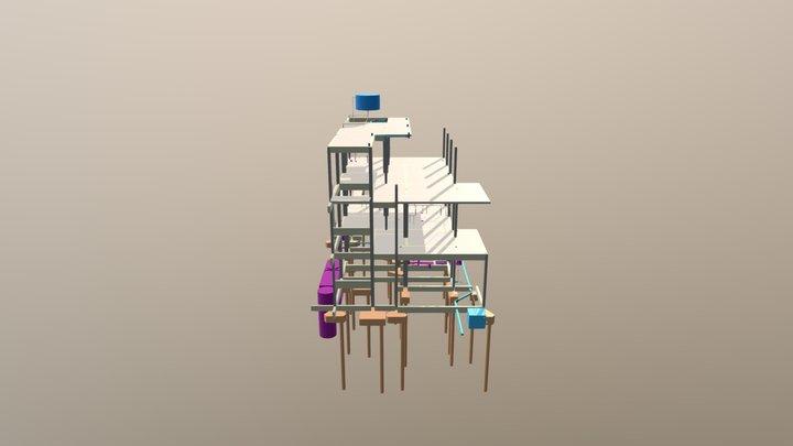 Croqui da versão básica. 3D Model