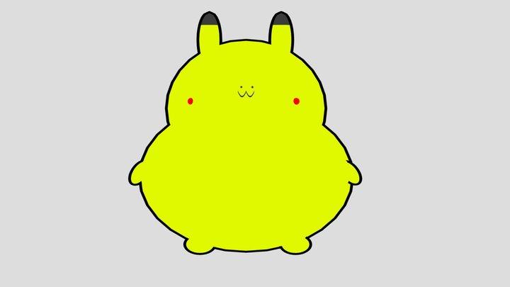 chonk pikachu 3D Model