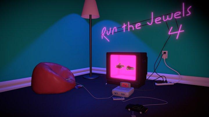 """Retro Room"" - RTJ4D Entry #3 3D Model"