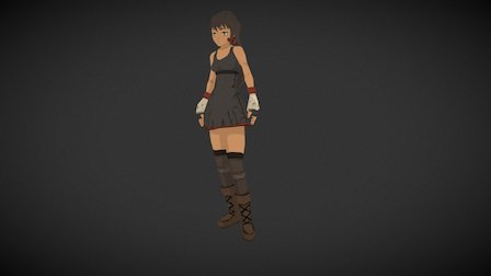 Rina - Low-poly game character 3D Model