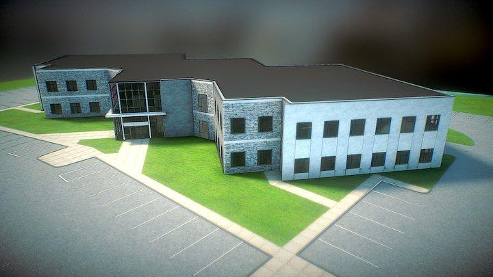 River Building 3D Model