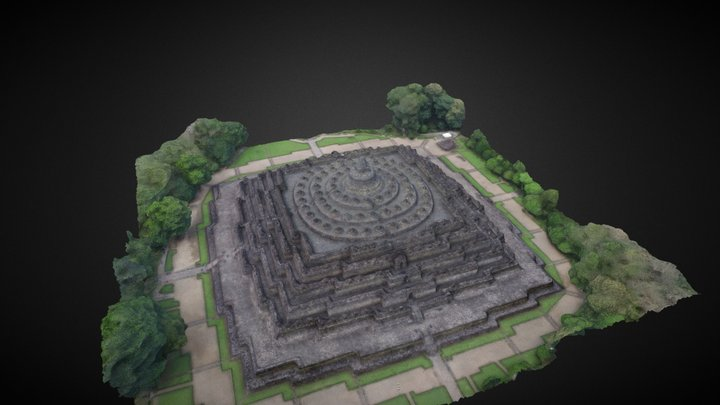 Borobudur Temple Indonesia 3D Model